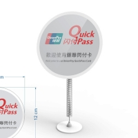 Acrylic advertising label